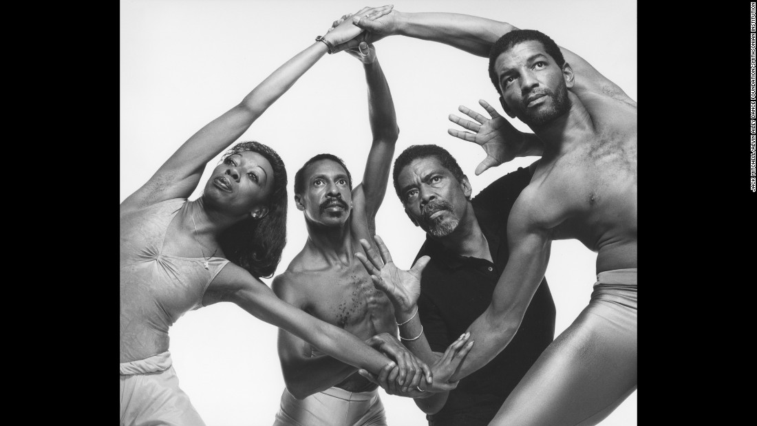 From left, Marilyn Banks, Dudley Williams, Ailey and DeLoatch are photographed in 1988.