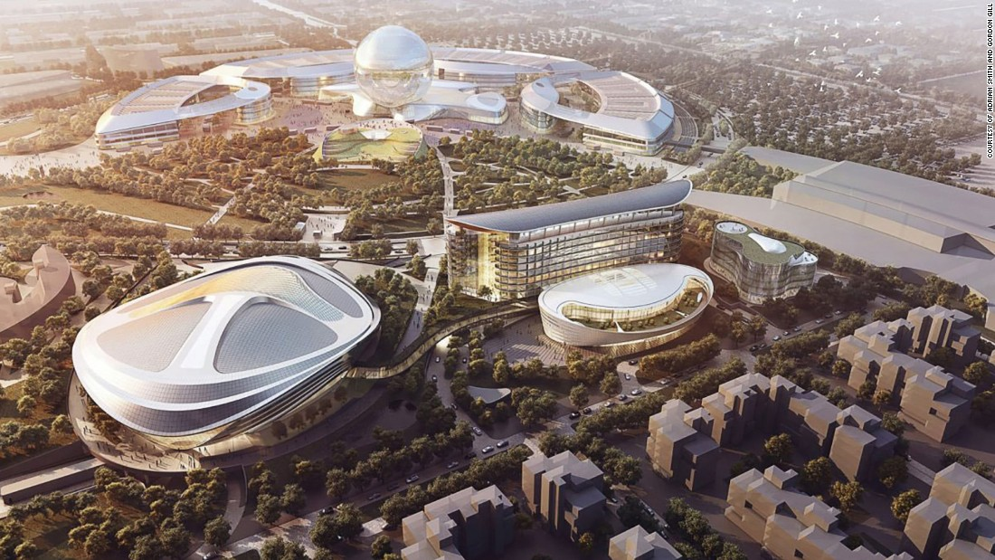 World Expos are almost always exotic architectural zoos, and Adrian Smith and Gordon Gill's monumental suite of circular pavilions is set to continue the trend. Astana's first Expo opens its doors next June with a theme of zero-energy design and sustainable urbanism. Opening in June 2017.
