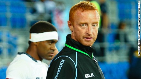 Fiji sevens coach Ben Ryan (C) gestures during the final of the IRB Gold Coast World Series Sevens rugby tournament at the CBUS Super Stadium on the Gold Coast on October 12, 2014. Fiji won 34-31. AFP PHOTO / PATRICK HAMILTON ---IMAGE RESTRICTED TO EDITORIAL USE - STRICTLY NO COMMERCIAL USE---        (Photo credit should read PATRICK HAMILTON/AFP/Getty Images)