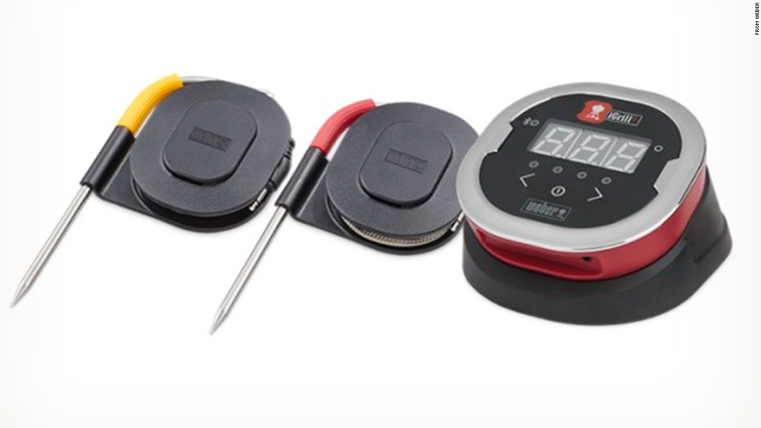 If you're in charge of feeding hungry tailgaters but don't want to be tied to the grill, Weber's iGrill remote thermometer and app lets you monitor the temperature of what's on the grill to ensure it's cooked perfectly.