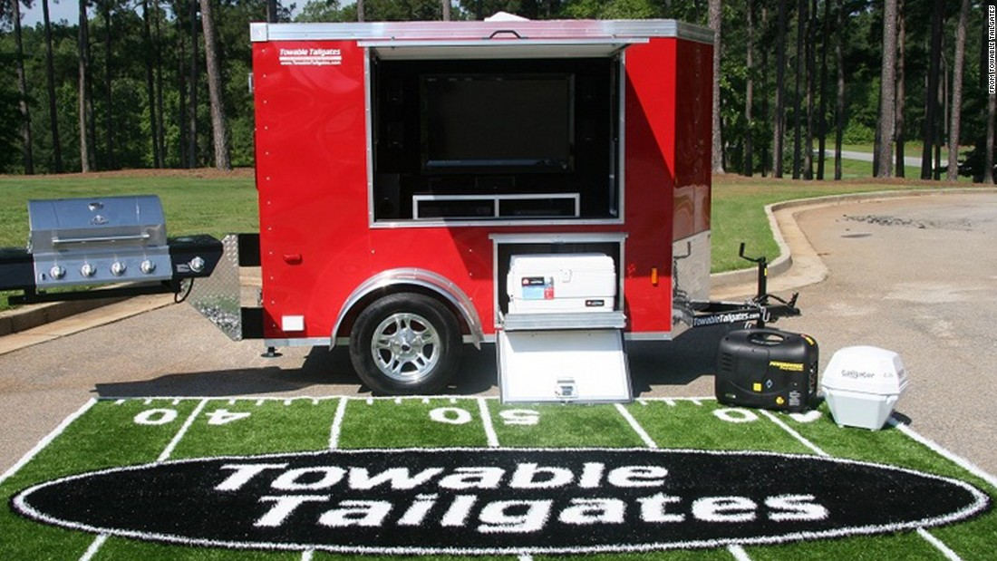 "Whether you're a chef, party animal or just a serious fan, <a href=""http://towabletailgates.com/"" target=""_blank"">Towable Tailgates </a>offers several different models of tailgating trailers and can add just about anything you can imagine to one of their custom builds."
