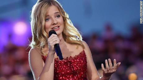 Classical crossover star Jackie Evancho performs at the US Capitol on July 4, 2016.