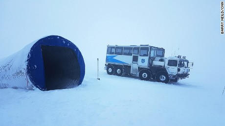 The Into The Glacier tour takes guests through a network of ice tunnels.