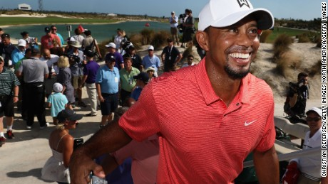 NASSAU, BAHAMAS - NOVEMBER 30:  Tiger Woods of the United States smiles after the completion of the pro-am for the Hero World Challenge at Albany, The Bahamas on November 30, 2016 in Nassau, Bahamas.  (Photo by Christian Petersen/Getty Images)