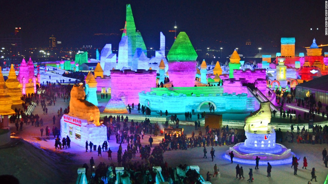 <strong>Harbin International Snow and Ice Festival:</strong> Famous for its huge, intricate ice sculptures, the 33rd Harbin International Snow and Ice Festival is now underway.