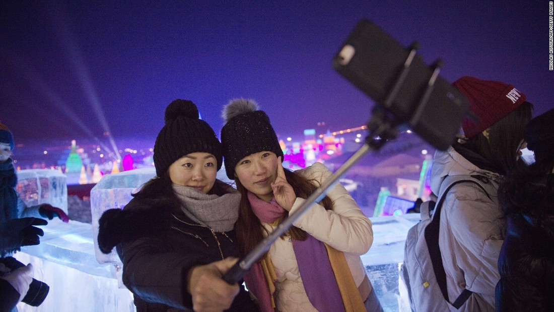 <strong>Selfie central: </strong>Expect plenty of scenes like this. The festival's Ice and Snow World zone, which covers more than 750,000 square meters, was made for selfies.