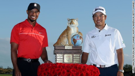 Hideki Matsuyama won Tiger Woods' Hero World Challenge in December to underline his growing status.