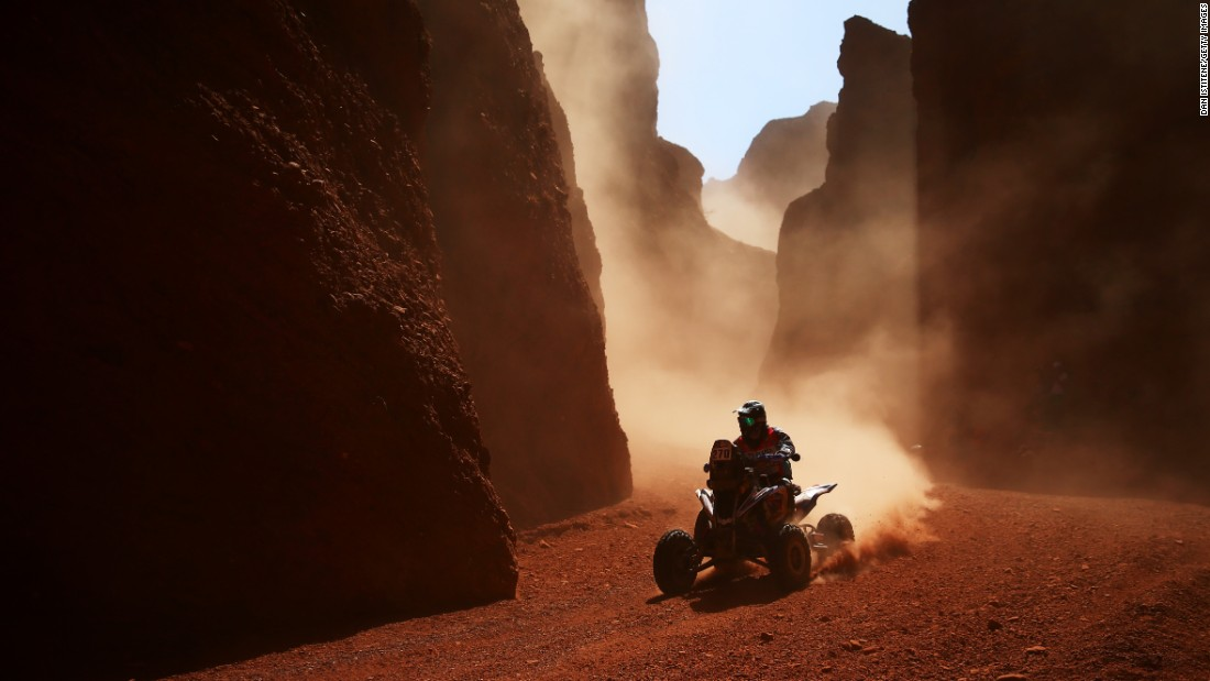 Gustavo Gallego rides a quad bike during the third stage of the Dakar Rally on Wednesday, January 4. The stage started in the Argentine city of San Miguel de Tucuman and ended in San Salvador de Jujuy.