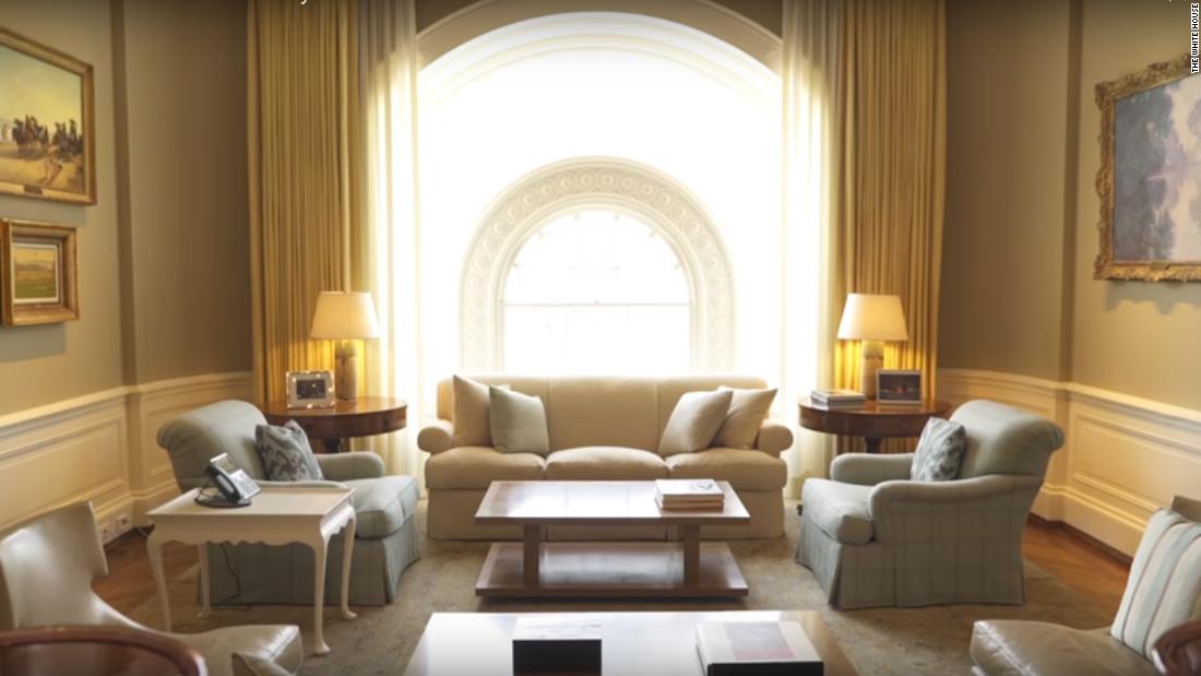 white house video showcases family residence cnnpolitics. Black Bedroom Furniture Sets. Home Design Ideas