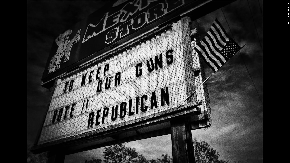 A store sign in Virginia urges people to vote Republican in 2014.