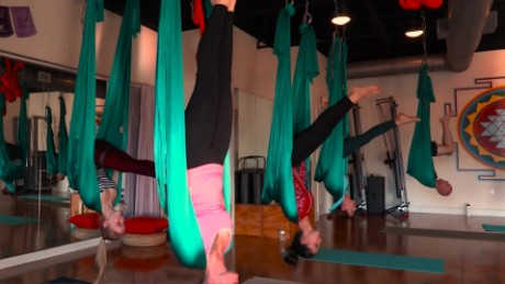 Take a swing at aerial yoga at home