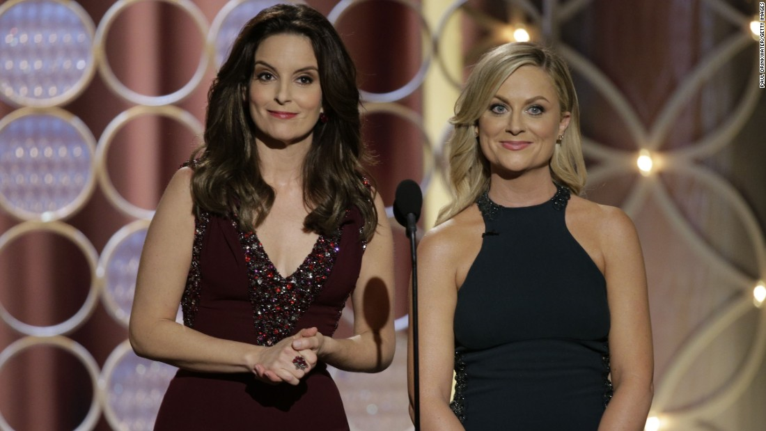 When Tina Fey and Amy Poehler co-hosted the Golden Globes in 2014, the duo brilliantly took on Hollywood's leading men. They poked fun at George Clooney's inability to stay in a relationship (at the time), Leonardo DiCaprio's penchant for dating models and had other celebrities crawling under their tables to avoid being a target.