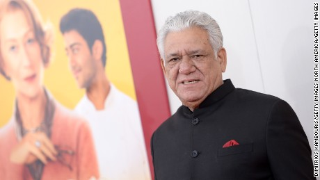 "NEW YORK, NY - AUGUST 04:  Actor Om Puri attends the ""The Hundred-Foot Journey"" New York premiere at Ziegfeld Theater on August 4, 2014 in New York City.  (Photo by Dimitrios Kambouris/Getty Images)"