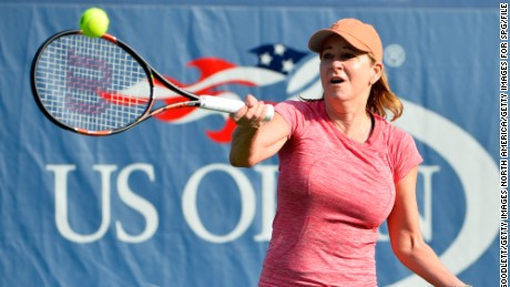 NEW YORK, NY - SEPTEMBER 12:  Former professional tennis player Chris Evert hosts a private tennis clinic for Starwood Preferred Guest during the 2015 US Open at the USTA Billie Jean King National Tennis Center on September 12, 2015 in the Flushing neighborhood of the Queens borough of New York City.  (Photo by Alex Goodlett/Getty Images for SPG)