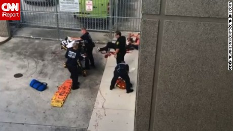 Ft. Lauderdale injured people attended by rescue personnel