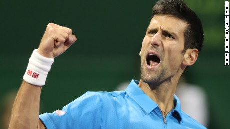 Novak Djokovic was at his pugnacious best as he saw off arch-rival Andy Murray in three sets in Doha.