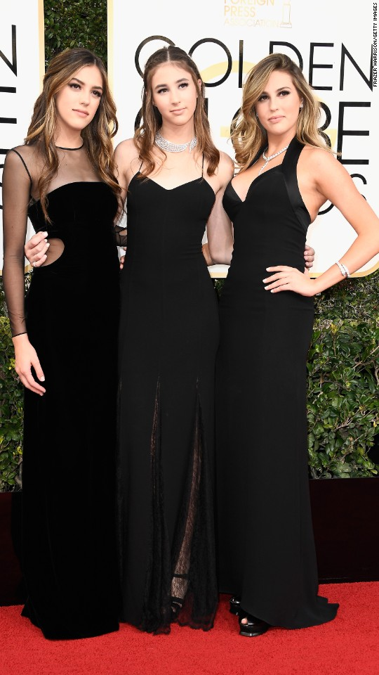 Sylvester Stallone's daughters -- from left, Sistine, Scarlet and Sophia -- are serving as Miss Golden Globe this year.