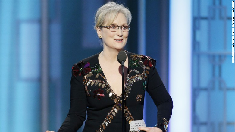 Meryl Streep gets political at Golden Globes