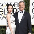 golden globes 2017 - Mel Gibson and Rosalind Ross