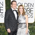 golden globes 2017 - John Travolta and Kelly Preston