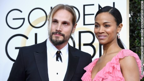 BEVERLY HILLS, CA - JANUARY 08: Marco Perego and actress Zoe Saldana attend the 74th Annual Golden Globe Awards at The Beverly Hilton Hotel on January 8, 2017 in Beverly Hills, California.  (Photo by Frazer Harrison/Getty Images)
