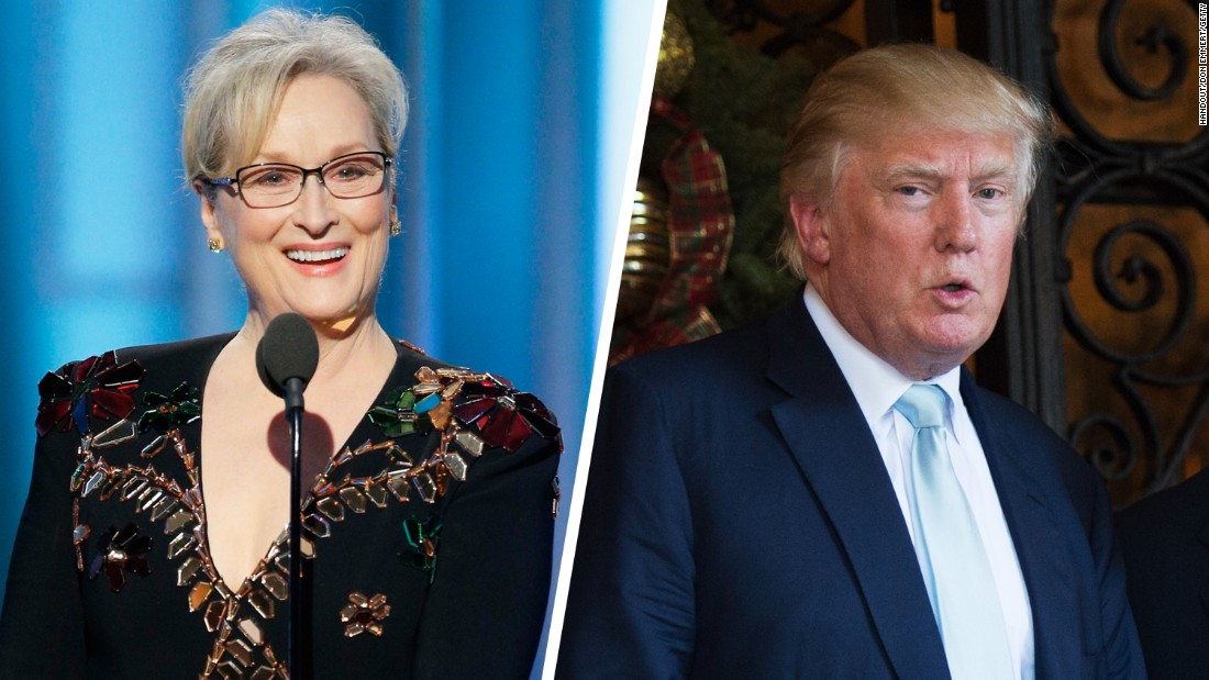 Donald Trump attacks Streep for speech at Golden Globes