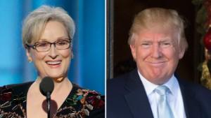 Trump calls Meryl Streep 'overrated' and a 'Hillary flunky'
