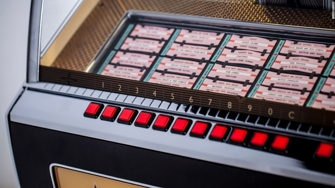 Each jukebox will contain 70 records, including A and B-sides. Prices start at £8,000 ($9,990).