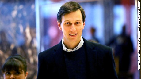 Jared Kushner, the son-in-law of President-elect Donald Trump, walks through the lobby of Trump Tower on November 18, 2016 in New York City.