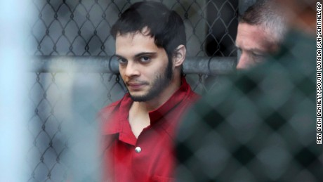 Esteban Santiago is taken from the Broward County main jail as he is transported to the federal courthouse in Fort Lauderdale, Florida on Monday, January. 9, 2017. Santiago is accused of fatally shooting several people at a crowded Florida airport baggage claim and faces airport violence and firearms charges that could mean the death penalty if he's convicted.