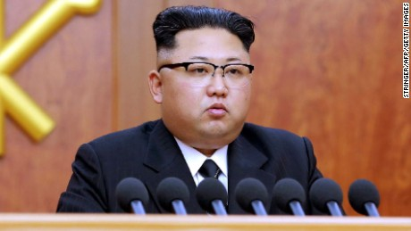 "This picture released by North Korean news agency Korean Central News Agency (KCNA) on January 1, 2017 shows North Korean leader Kim Jong-Un delivering the new year message in Pyongyang. / AFP / KCNA VIA KNS / STRINGER / South Korea OUT / REPUBLIC OF KOREA OUT   ---EDITORS NOTE--- RESTRICTED TO EDITORIAL USE - MANDATORY CREDIT ""AFP PHOTO/KCNA VIA KNS"" - NO MARKETING NO ADVERTISING CAMPAIGNS - DISTRIBUTED AS A SERVICE TO CLIENTS THIS PICTURE WAS MADE AVAILABLE BY A THIRD PARTY. AFP CAN NOT INDEPENDENTLY VERIFY THE AUTHENTICITY, LOCATION, DATE AND CONTENT OF THIS IMAGE. THIS PHOTO IS DISTRIBUTED EXACTLY AS RECEIVED BY AFP.  /          (Photo credit should read STRINGER/AFP/Getty Images)"
