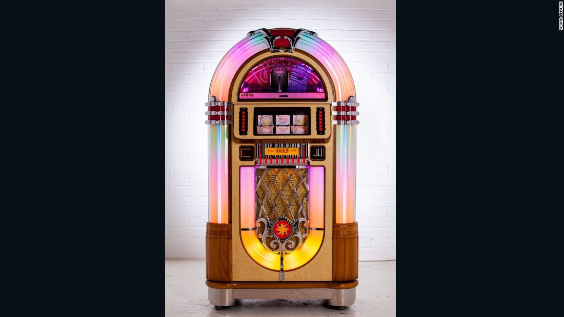 Their models, including the 1015 Slimline Jukebox pictured here, are all built by hand. The 1015 retails for £6,145 ($7,466).