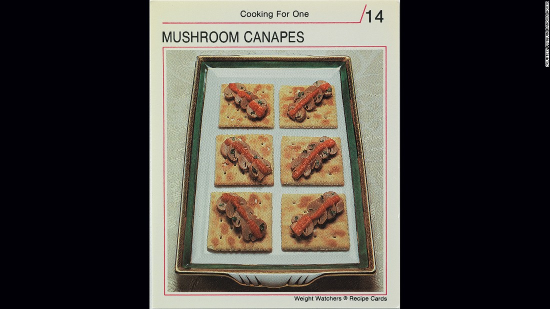 <strong>Mushroom canapes</strong> -- On a diet? After you've eaten that grapefruit for breakfast, you can snack midday on plain crackers, limp mushrooms and a smear of tomato puree.