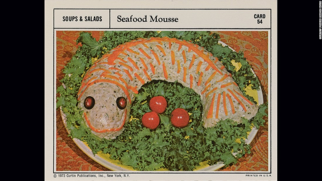 <strong>Seafood mousse -- </strong>While going through her mother's binders of recipes, Pallai uncovered outlandish, and often nightmarish, creations such as this fish.