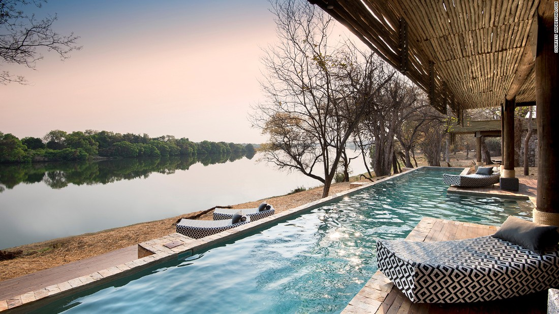 <strong>Riverside resort in Zimbabwe: </strong>Situated on a private wildlife concession on the Zambezi River, just 40 kilometers from Victoria Falls, Matetsi River Lodge is one of Zimbabwe's newest and best places for an indulgent safari.