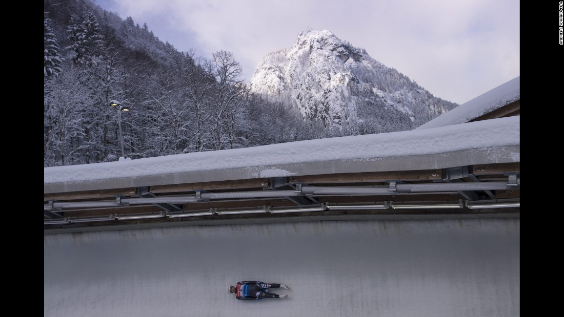 Italian luger Emanuel Rieder competes in a World Cup event in Schonau am Konigssee, Germany, on Friday, January 6.