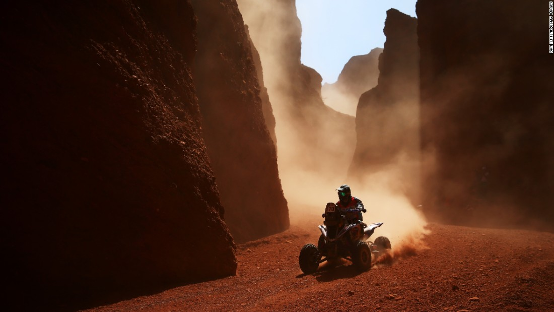 "Gustavo Gallego rides a quad bike during the third stage of the Dakar Rally on Wednesday, January 4. The stage started in the Argentine city of San Miguel de Tucuman and ended in San Salvador de Jujuy. <a href=""http://www.cnn.com/2017/01/03/sport/gallery/what-a-shot-sports-0103/index.html"" target=""_blank"">See 29 amazing sports photos from last week</a>"