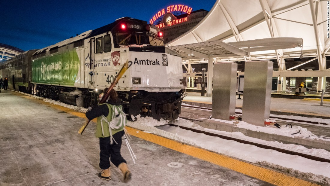Amtrak's new ski train route between Denver's Union Station and Winter Park Resort debuted on January 7.