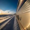 amtrak colorado ski train in transit