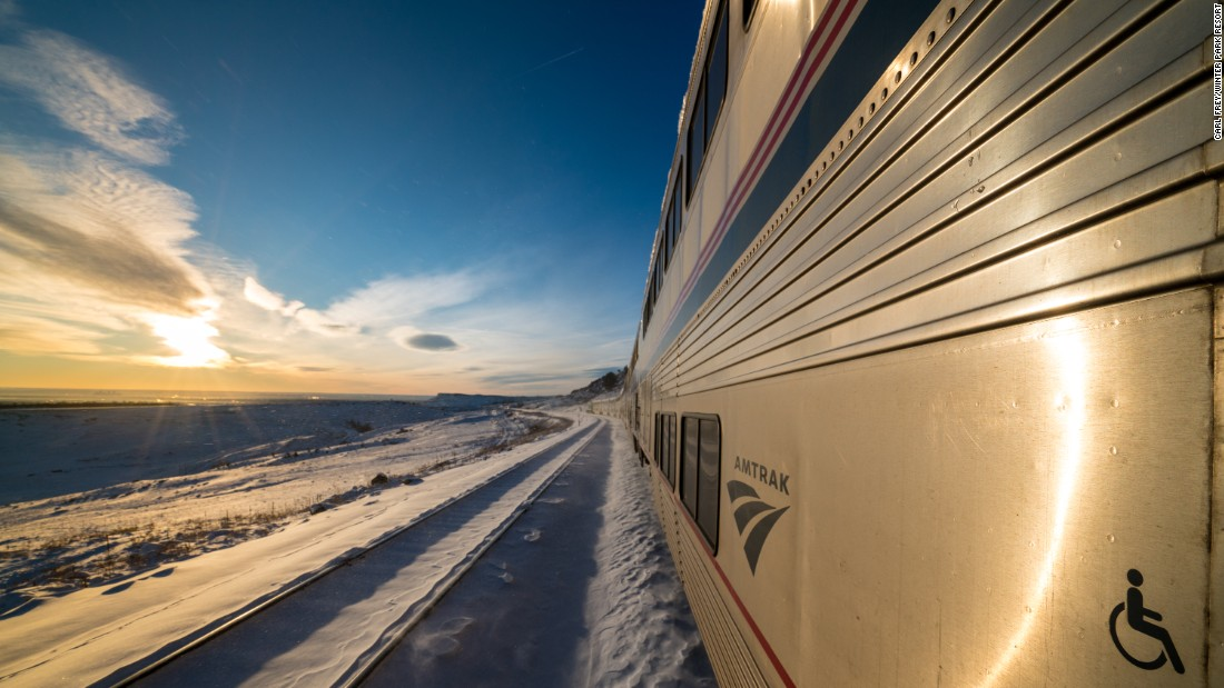 The train departs Denver at 7 a.m. for the two-hour ride to Winter Park.