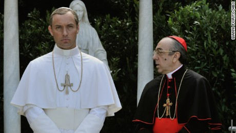 "Jude Law, Silvio Orlando in HBO's ""The Young Pope."""