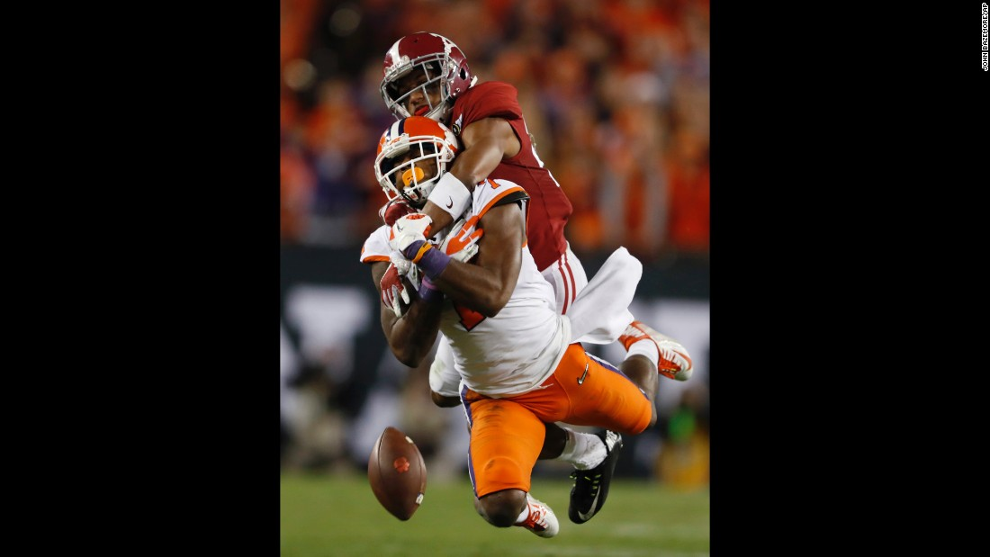 Alabama's Marlon Humphrey is called for pass interference on a second-half pass to Williams.