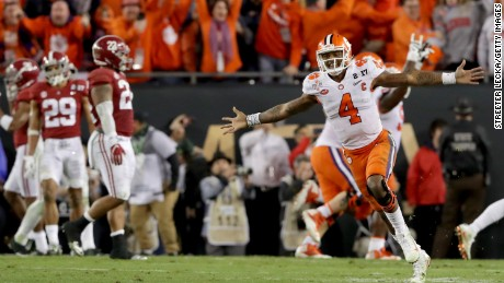 College football championship: Alabama vs. Clemson