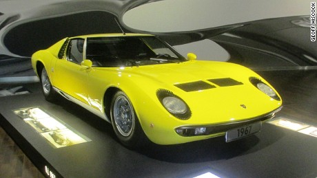 1967 Lamborghini Miura, on display at the VW Autostadt Museum, Wolfsburg, Germany.