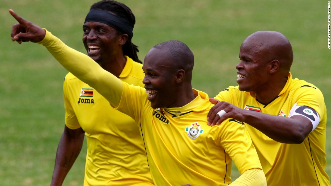 "<strong>Knowledge Musona, Zimbabwe: </strong>Striker<strong> </strong>Musona (center, hand raised) knows how to score goals. Nicknamed the ""Smiling Assassin,"" Musona has knocked in <a href=""http://www.transfermarkt.co.uk/knowledge-musona/profil/spieler/120785"" target=""_blank"">14 goals in 20 appearances</a> for the Warriors, and has a good strike rate for Belgian club KV Oostende too. If Zimbabwe, which is the second biggest outsider in the tournament at 100 to 1 odds, is to get out of its group, it will need Musona to continue his fine form."