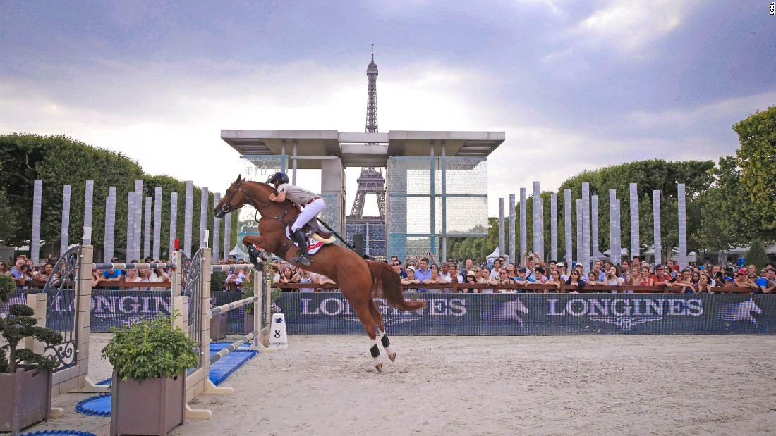 Bertram Allen of Ireland won the Paris leg of the GCT on Romanov in 2015.