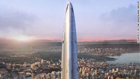 "According to The Council on Tall Buildings and Urban Habitat, a building is structurally ""topped-off"" when it is under construction, and ""the highest primary structural element is in place."" Wuhan Greenland Center (above), will become China's tallest building when it tops out next year"
