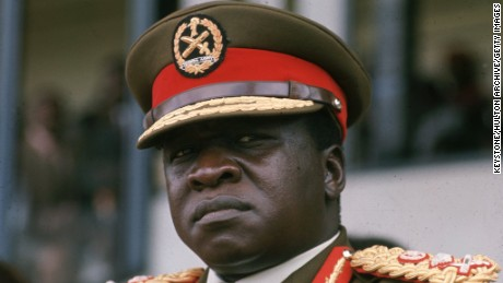 Ugandan soldier, dictactor and head of state (1971 - 1978) General Idi Amin.