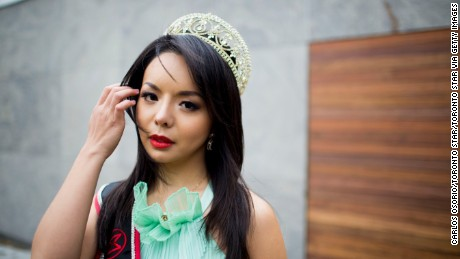 TORONTO, ON - NOVEMBER 12  - Portrait photo of Anastasia Lin, Miss World Canada, 2015. Lin has not received the letter from the local Chinese government that would allow her to apply for a VISA in time to make the Nov. 20 deadline for the international beauty competition. Lin says she is being singled out for her Falon Gong sympathies and for taking film roles critical of China.  November 12, 2015.        (Carlos Osorio/Toronto Star via Getty Images)