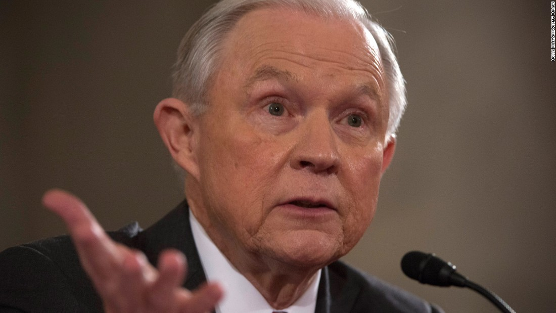 Sessions testifies during his hearing.